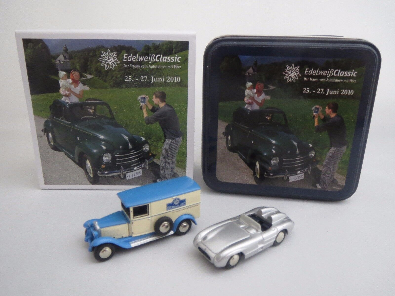 Bouèbe exclusivement-Set  EDELWEISS CLASSIC 2010  Mo 300 SLR & MB l1000 1 87 Neuf dans sa boîte