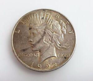 1922 Liberty Peace One Dollar E Pluribus Unum Usa Silver