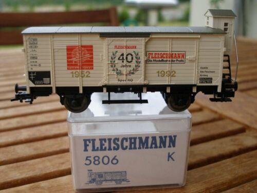 """selten Fleischmann 5806 K H0 Gedeckter Güterwagen /""""40 Jahre Fleischmann/"""" H0,OVP"""