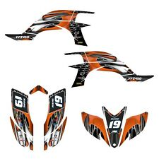 YFZ 450 graphics decal kit for Yamaha 2003 2004 2005 2006 2007 2008 #4444 Orange