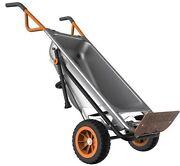 WORX WG050 Aerocart 8-in1 2-Wheel Wheelbarrow/Garden Cart/Dolly Certified Refurb