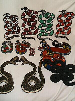 Rattlesnake Snake Diamondback Embroidered Iron On Patch