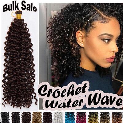100 Natural Curly Crochet Braids Long Deep Wave As Human Hair Extensions Ebay