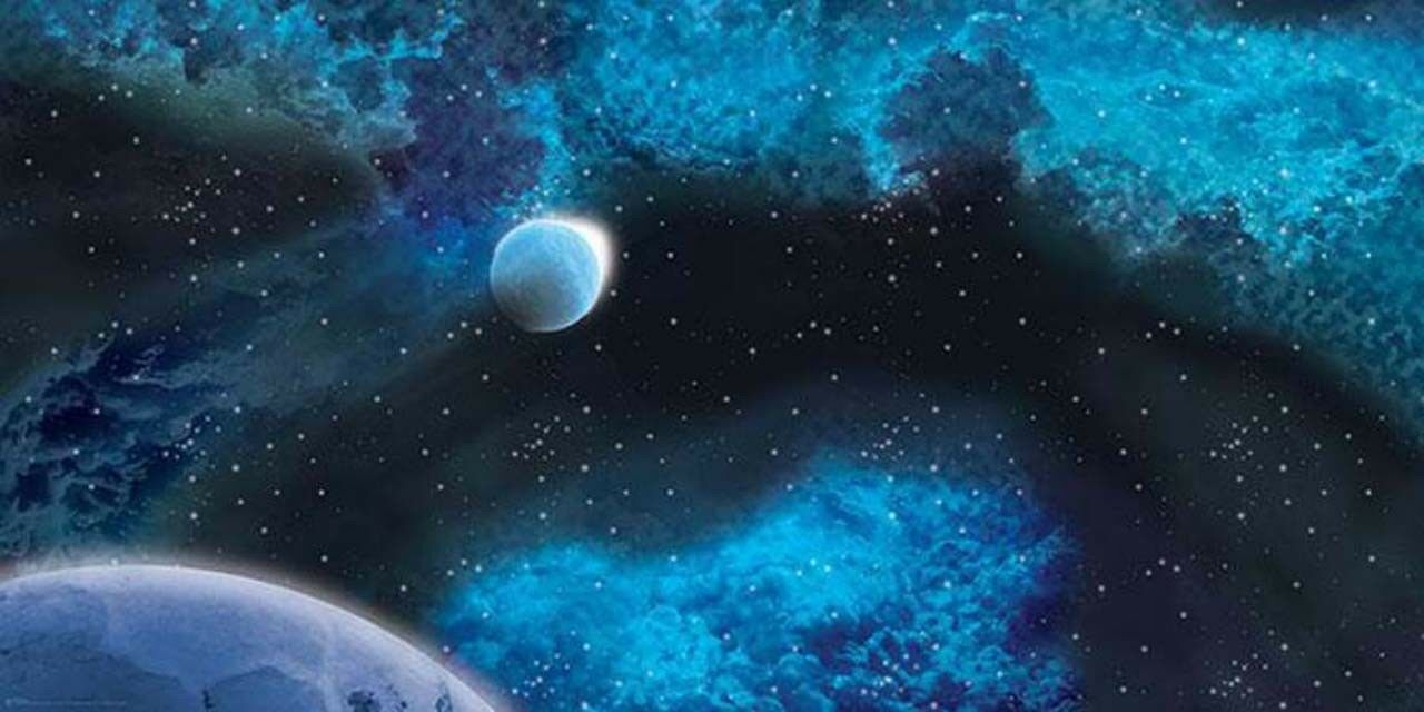 Large Icy Planet Space Mat Gale Force 9