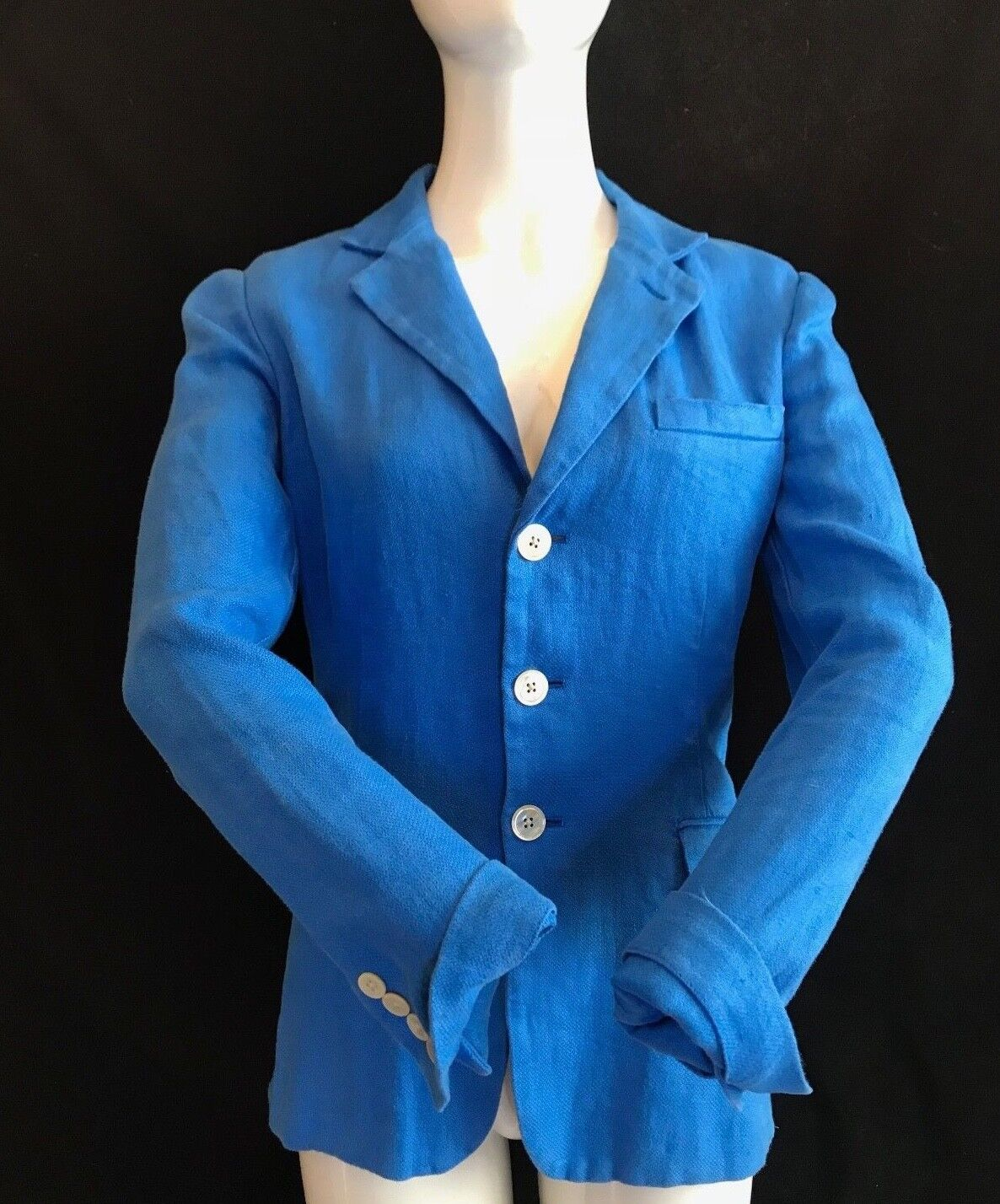 BNWT POLO RALPH LAUREN Ladies Corsican bluee 100% Cotton Blazer UK14 RRP