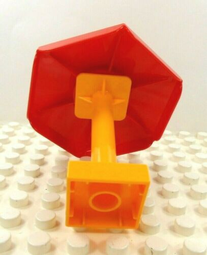 Lego Duplo Item Umbrella//Canopy w// Stanchion Red//Yellow