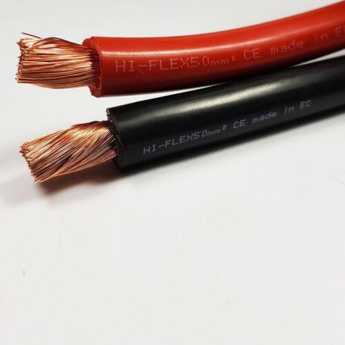 50mm2 345 un ampli flexible pvc batterie câble de soudage noir rouge 1-100M m longueurs