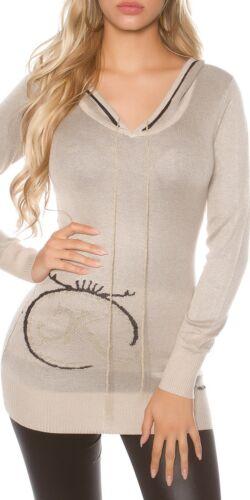 KOUCLA sexi Pullover Sweater Felpa con glitter-Print