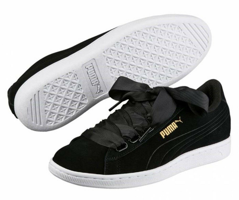 PUMA VIKKY RIBBON scarpe donna Baskets nero sportive nero Baskets pelle camoscio running fit a78b4c