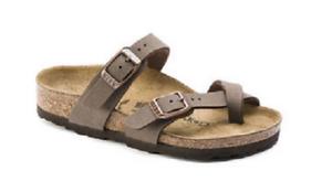 2341700df105 NIB Birkenstock Mayari Kids Birkibuc Sandals in Mocha 1014177 NARROW ...
