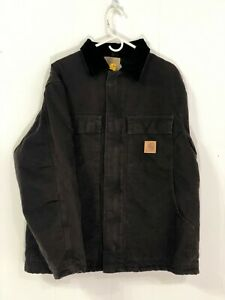 Carhartt-C26-Sandstone-Traditional-Arctic-Quilt-Lined-Coat-Dark-Brown-Large-Reg