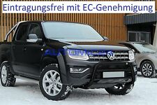 Frontbügel Bullenfänger Frontschutzbügel Rammschutz VW Amarok Eurobar Schwarz