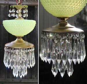 Vintage Swag Lampe Kronleuchter Murano Blau Opalin Bubble Art Glas Messing Quarz