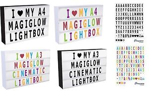 A4-A3-MagiGlow-Cinematic-Cinema-Light-Up-Letter-Box-Sign-Lightbox-Message-Board