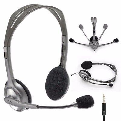 Logitech Stereo Headset H111 Headphones w/ Boom Microphone & Noise  Cancellation 97855114976   eBay