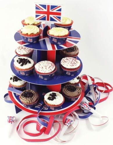 Union Jack GB Cake Cases Picks Cake Sets Cake Stands  Patriotic Events VE Day