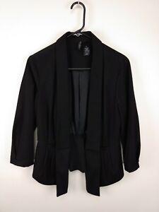 Women-039-s-Bisou-Bisou-Size-M-Black-Blazer-Coat-Jacket