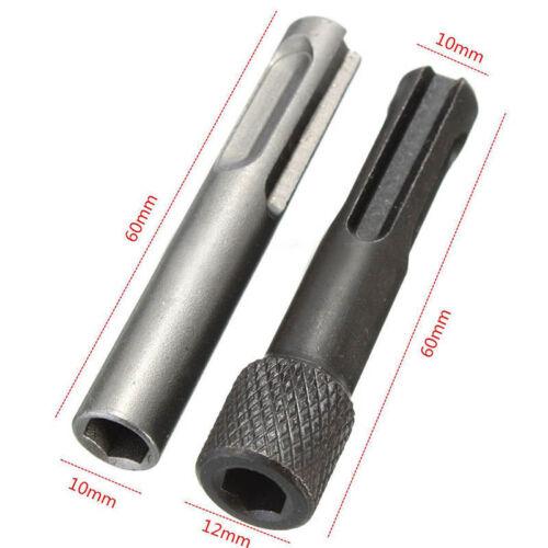 2pcs Impact Driver Adapters Set Drill Bit 1//4/'/' Shank for SDS Hammer Socket Nut