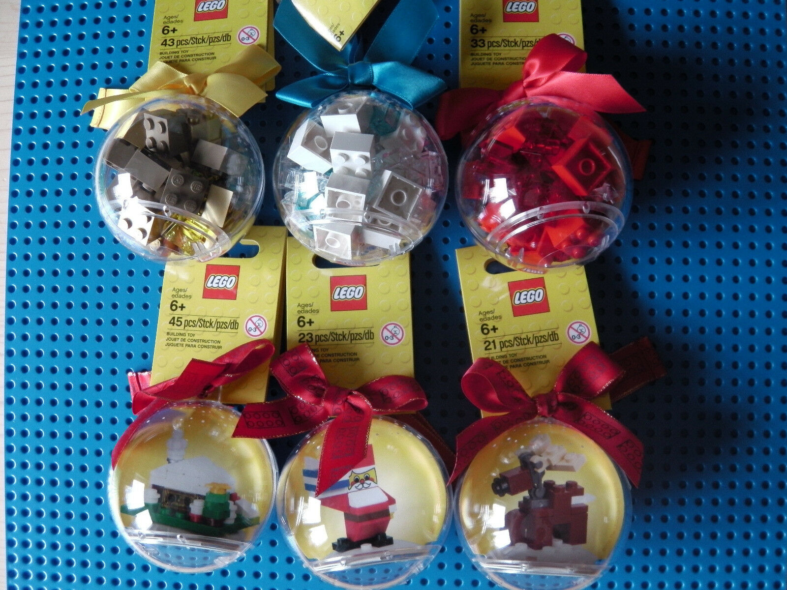 LEGO® 6 x Christbaumkugeln 850850 850949 851358 853344 853345 853574 X-MAS Neu