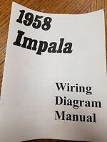 1958 Chevy Impala, Belair Or Biscayne Wiring Diagram Manual Free Shipping