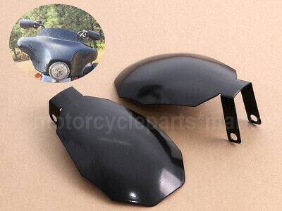 1 Pair Black Coffin Cut Hand Guards Handguards Compatible with Harley Electra Street Road Glide Road King Baggers 2007 and up