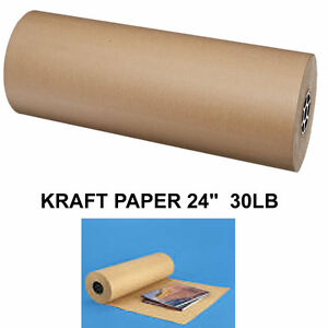 24 30 lbs brown kraft paper roll shipping wrapping for Brown craft paper rolls
