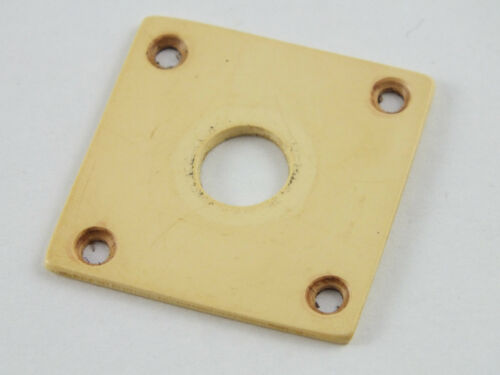 Aged Relic Square CREAM JACK PLATE for HISTORIC 59 Gibson Les Paul guitars