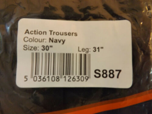 """PORTWEST S887 MULTIPOCKET ACTION TROUSERS KNEEPAD POCKET SIZE 30/"""" LEG 31/"""" NAVY"""