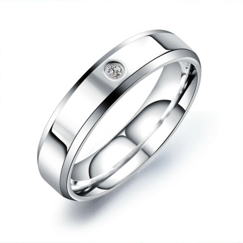 Fashion Women 925 Sterling Silver Diamond Crystal Engagement Wedding Rings Gift