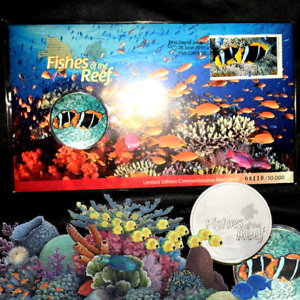 Coin & Stamp collectible CONSERVATION Australian MINT Barrier Reef PNC 2010 Ltd!