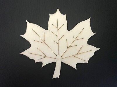 7 Ahorn Blatt Aus Holz 6 X 7 Cm Deko Bastel Herbst Bastelmaterial Bastelholz Ebay
