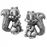 Squirrel Earrings Sterling Silver Posts Studs Tiny Mini Animal Chipmunk