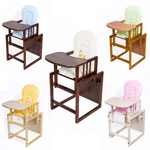 Image Is Loading Feeding Chair Wood High Baby Table Set