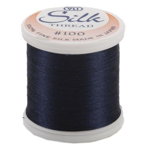 Kanagawa YLI 100/% and #100 Silk Thread 210 - Midnight Blue