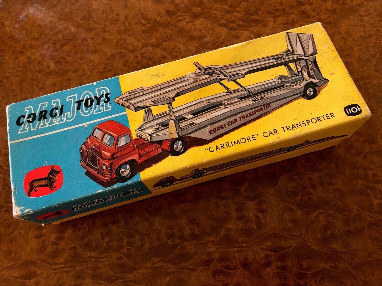 Vintage Corgi Toys Major   MIB   Carrimore Car Transporter   No. 1101
