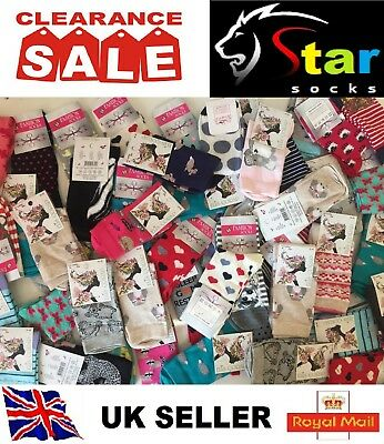 40 pairs luxury women/'s ladies design coloured socks cotton UK size 4-6 CMNSJ