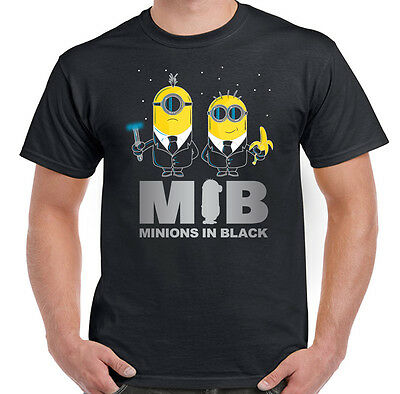 Minions In Black - Mens Funny T-Shirt - Minion Parody