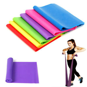 Resistance Bands Fitness Equipments 2m Yoga Pilates Exercise Rubber Stretch Band Arm Leg Back Fitness Gym Training