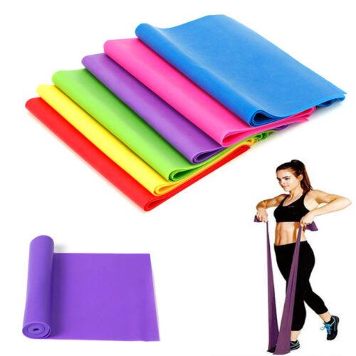 1.2M Elastic Yoga Pilates Rubber Stretch Exercise Band Arm Leg Back Fitness