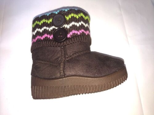 WARM BABY GIRL TODDLER INFANT WINTER BOOTS  SHOES ZIPPER SIDE COLORS