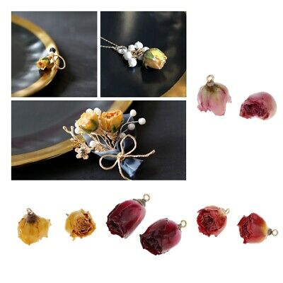 4pcs Resin Dried Flowers Charms Pendants fit Dangle Earrings Jewelry Making