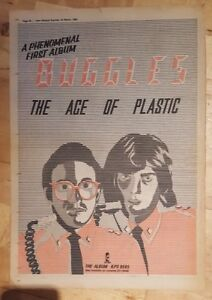 Buggles-Age-of-plastic-1980-press-advert-Full-page-37-x-27-cm-poster