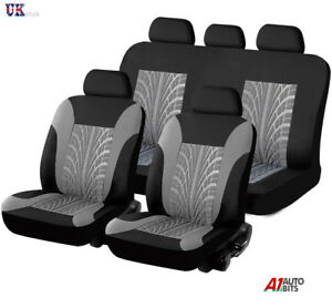 Fit-Nissan-Navara-D40-Double-Cab-05-14-Onwards-Grey-Front-amp-Rear-Seat-Covers