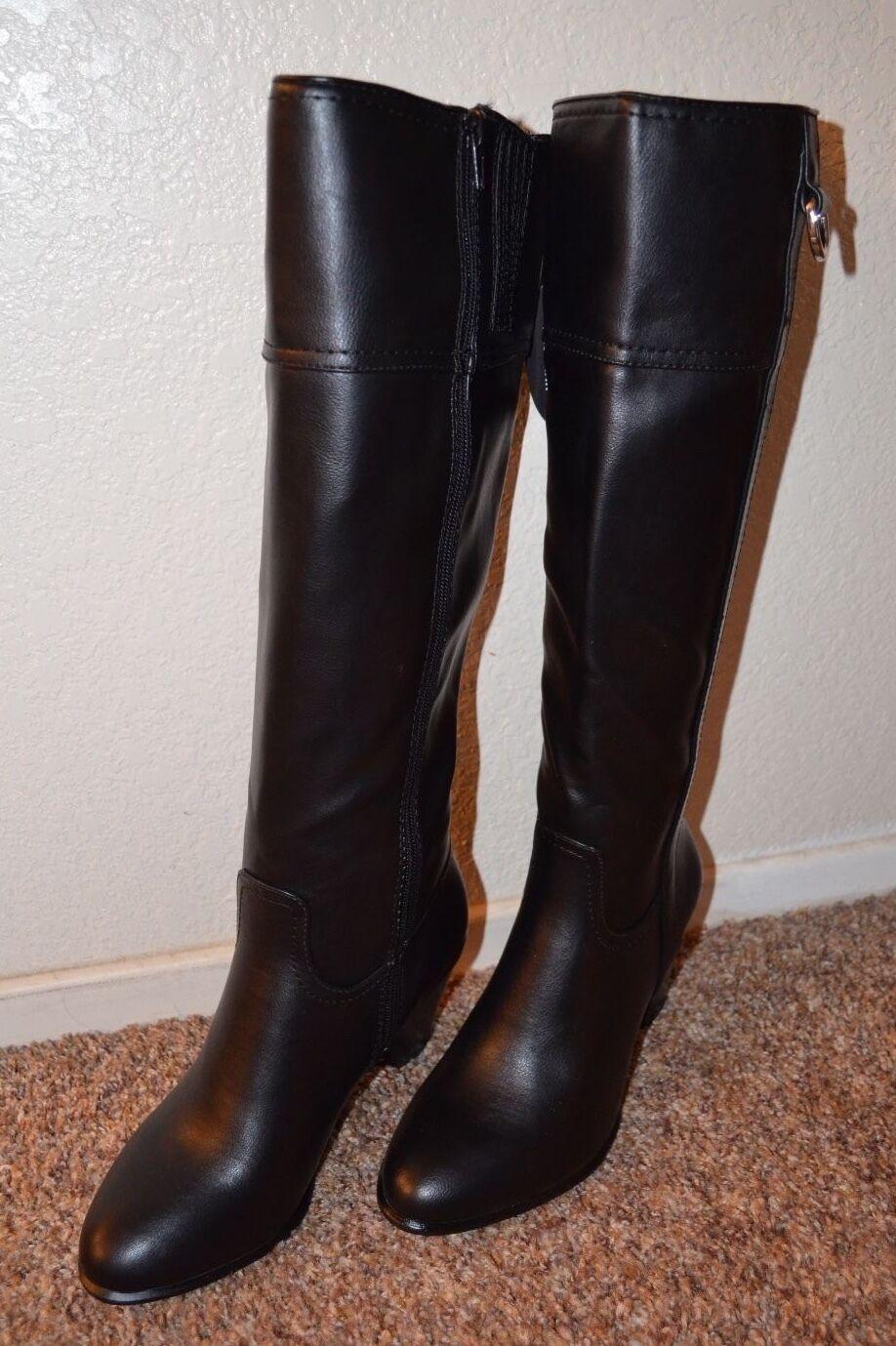 NEW  ALFANI  Women BLACK Knee High Boots   Size 7 m   3  Heel  VERY CUTE