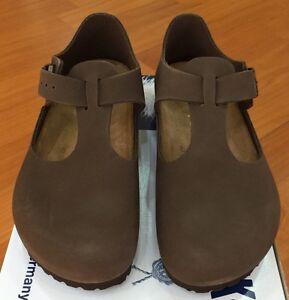 Birkenstock-Paris-065003-Euro-size-36-L5-Narrow-Mocha-Nubuk-Leather-Shoes