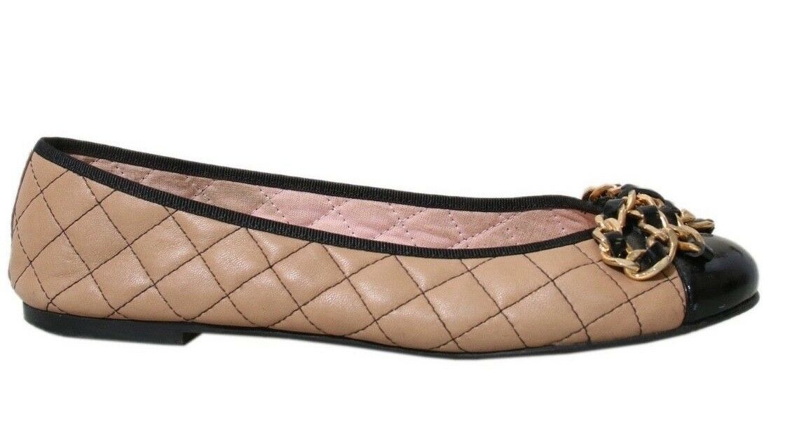 PRETTY BALLERINAS Quilted Quilted Quilted Leather Flats (SIZE 37) 700559
