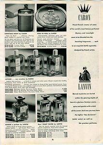 1947-PAPER-AD-Caron-Voeu-De-Noel-Perfume-Lanvin-Rumeur-Weil-Of-Paris-Cobra