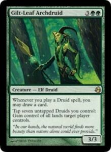 JAPANESE-Gilt-Leaf-Archdruid-Morningtide-NM-Japanese-MTG-Magic