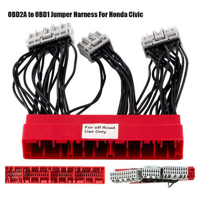 Wire Harness OBD2A to OBD1 Jumper ECU Conversion Wiring Harness Assembly/ for Acura Accord Civic 96-98