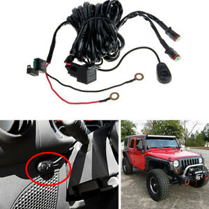 Details about Off Road Light Bar Wiring Harness Kit 12V 40A Relay 2Lead on